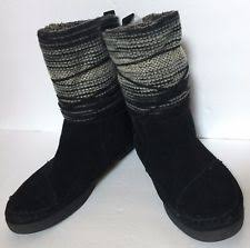 s knit boots size 12 s tom s us size 12 ebay