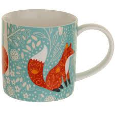 fox mug foraging foxes china mug bbc shop