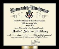 honorable discharge frames honorable discharge certificate frame in