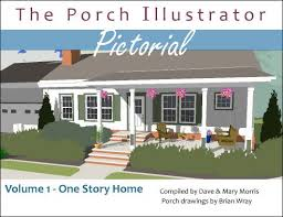 house plans with front porch one story rambler with porch added on porch illustrator pictorial ebook