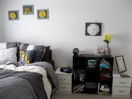 blue yellow and gray bedroom decorating with royal blue gray and