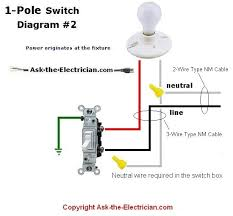 single pole light switch wiring diagram wiring diagram and