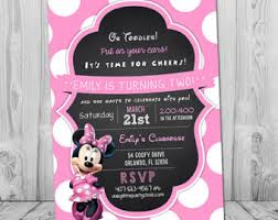 minnie mouse birthday invitation minnie birthday invitation