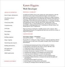Sample Resume For Net Developer With 2 Year Experience by Web Developer Resume Template U2013 11 Free Word Excel Ps Pdf