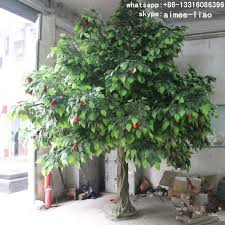 q020309 indoor decoration real wood artificial fruit trees for