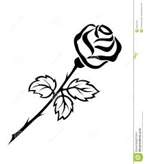25 Beautiful Black And White by Eleletsitz Single Rose Black And White Clip Art Images