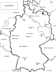 Germany Map Outline by Download Black And White Map Of Germany Major Tourist