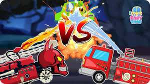 fire truck war good vs evil scary fire vehicles halloween