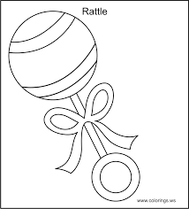 baby rattle coloring pages baby coloring
