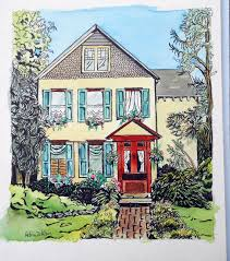 Artist House by Custom House Portrait My Unique Style By Me Artist Robin Zebley