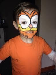 garfield face paint and diy costume kids halloween 2016