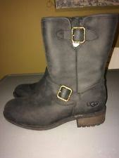 s ugg australia chaney boots womens ugg australia chaney black leather boots size 6 1007542 ebay