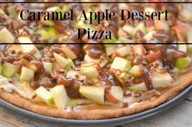 caramel apple dessert pizza recipe building our story