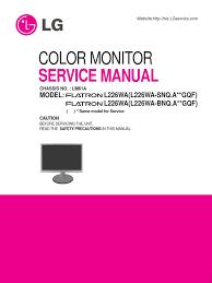 lg l226wa service manual soldering rectifier