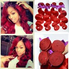 brazilian ombre short hair extensions body wave red ombre weave
