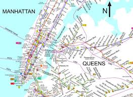 Manhattan Subway Map by Urban Geographies Cities Places Regions
