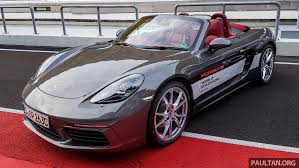 porsche 718 boxster previewed in malaysia at sepang image 518988