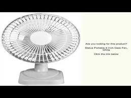 6 Inch Oscillating Desk Fan Status Portable 6 Inch Desk Fan White Youtube