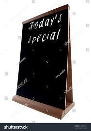 empty restaurant chalk board stand people stock photo 146692031