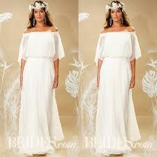 discount theia fall 2017 bohemian wedding dress off shoulder