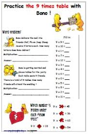 free printable worksheets for multiplication