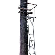 Ameristep Tree Stand Blind Ameristep 15 U0027 Steel Two Man Grey Ladder Stand Walmart Com