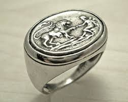 antique lion ring holder images Antique mens ring etsy uk jpg