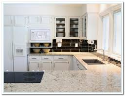 kitchen countertops with white cabinets white cabinets with granite countertops home and cabinet reviews