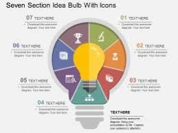 Flat Light Bulb Idea Innovation And Light Bulbs Powerpoint Designs Idea