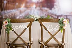 wedding chair signs script groom chair signs wedding chair signs