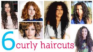 long layered haircuts for thick curly hair 6 haircuts for curly hair youtube