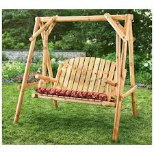Swinging Patio Chair Castlecreek 4 Log Swing 2 Person 232388 Patio Furniture At