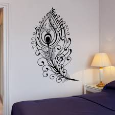 Beautiful Wall Stickers For Room Interior Design Peacock Art Wall Sticker Promotion Shop For Promotional Peacock