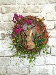 Handmade Easter Door Decorations by Best 25 Easter Wreaths Ideas On Pinterest Easter Ideas Spring