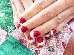 christmas nail art gel polish simple nail design ideas 15422