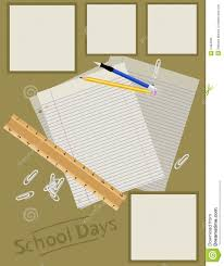 scrapbook page layout stock vector image 2484006
