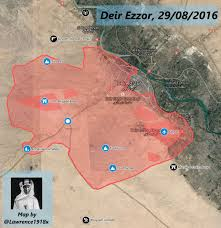 Where Is Syria On A Map by Military Situation In Deir Ezzor Syria On August 29