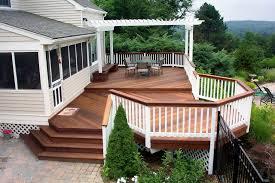 deck ideas decoration brown wooden deck ideas kitchentoday