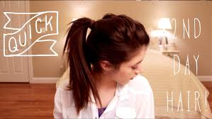 long hair style showing ears quick second day hairstyles youtube