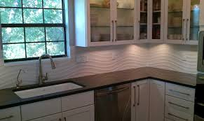 kitchen panels backsplash kitchen backsplash white wave panel tile contemporary