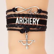 love braid bracelet images Drop shipping infinity love archery bracelet bangles handmade jpg