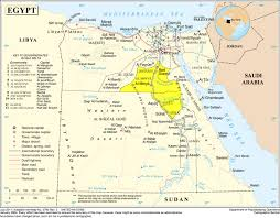 Middle East On Map by The Nile Valley Middle Egypt