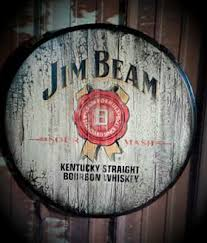 bourbon sign jim beam bourbon whiskey barrel top bar sign mattingly sign