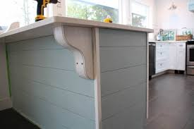 island peninsula kitchen a more kitchen drama diy planked peninsula with corbels