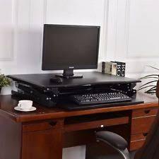 sit and stand desk platform interion ergonomic sit and stand desk platform ebay