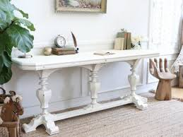 solid wood antique french shabby chic library desk console table