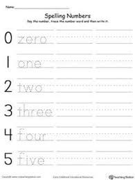 snapshot image of one page from number words 1 20 worksheets a b