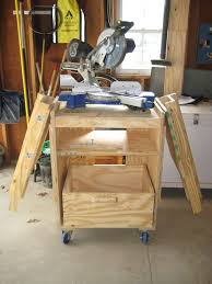 diy table saw stand with wheels miter saw station