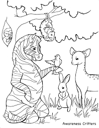 coloring pages awareness critters