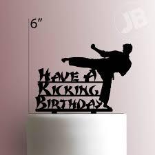 karate cake topper happy birthday cake topper 225 008